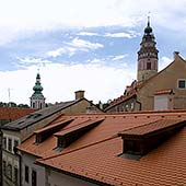 Room No. 13, Accommodation Český Krumlov - At the Trumpeter's, the view from the window