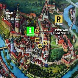 Castle apartments - Accommodation Cesky Krumlov - map